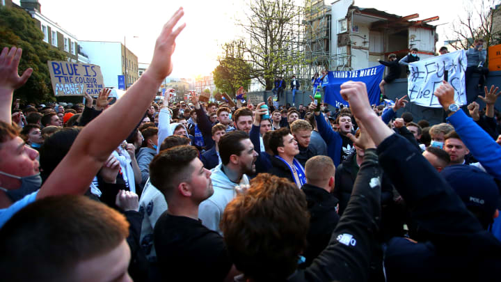 Chelsea fans protested the decision