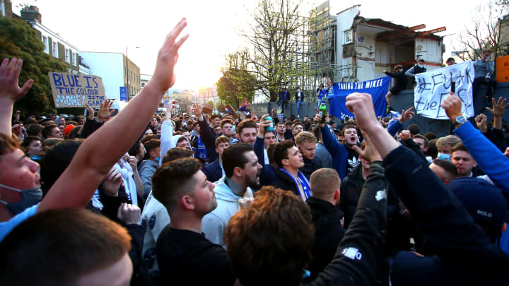Chelsea fans organised a large scale protest outside Stamford Bridge last month