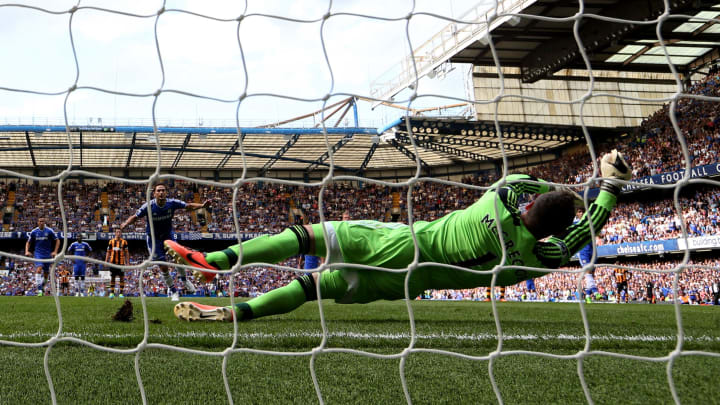 McGregor saving a penalty at Stamford Bridge