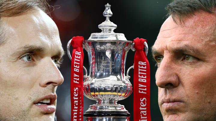 Thomas Tuchel et Brendan Rodgers vont s'affronter pour tenter de remporter la FA Cup