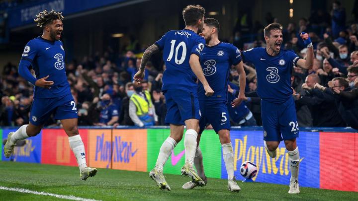 Chelsea bejubelt das 2:0 gegen Leicester.