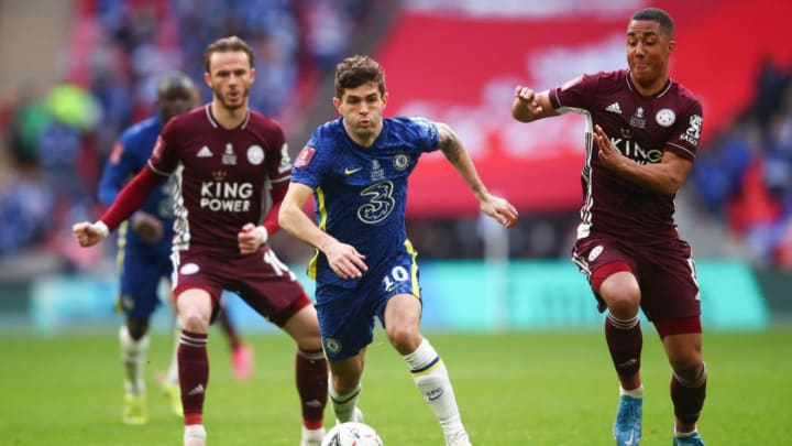 Christian Pulisic, James Maddison, Youri Tielemans Leicester City Chelsea FA Cup