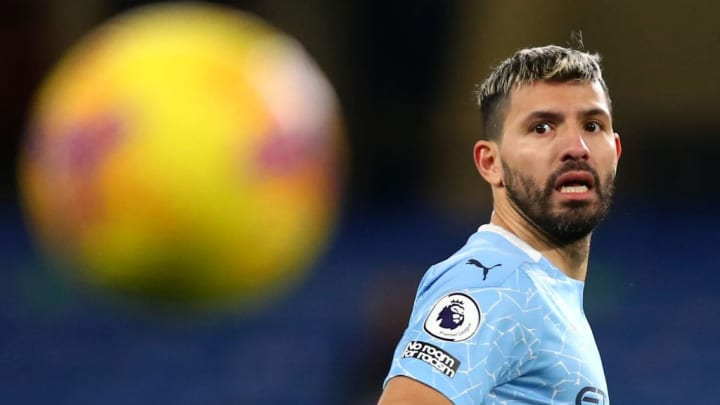Aguero is out of contract at the end of the season