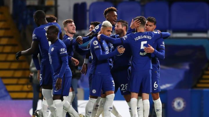 Chelsea celebrate their opener