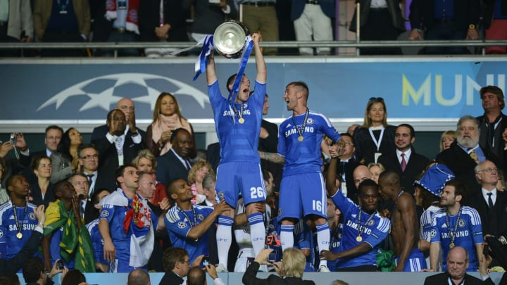 John Terry lifts the famous old trophy