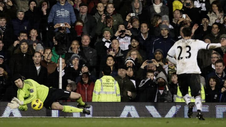 Cech's save at Fulham earned Chelsea a point in 2011