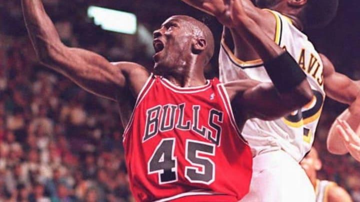 Chicago Bulls basketball star Michael Jordan (45)