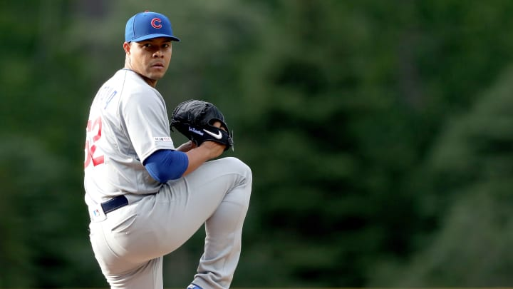 DENVER, COLORADO - JUNE 11: Starting pitcher Jose Quintana #62 of the Chicago Cubs throws in the first inning against the Colorado Rockies at Coors Field on June 11, 2019 in Denver, Colorado. (Photo by Matthew Stockman/Getty Images)