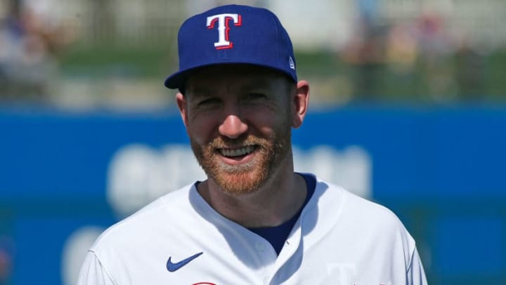 Todd Frazier during a Texas Rangers Spring Training game.