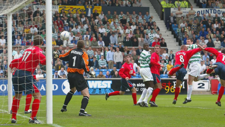 Chris Sutton scores his first goal
