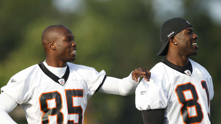 Terrell Owens and Chad Johnson in their younger days