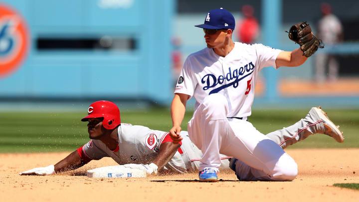Yasiel Puig on the Cincinnati Reds against the Los Angeles Dodgers
