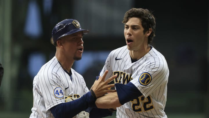 Christian Yelich loses it, gets ejected.