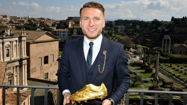 Ciro Immobile Of SS Lazio Receives The Golden Boot Award