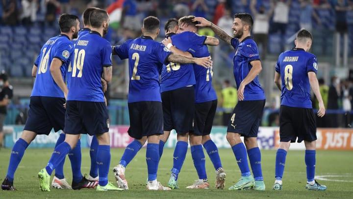 L'esultanza dell'Italia contro la Svizzera
