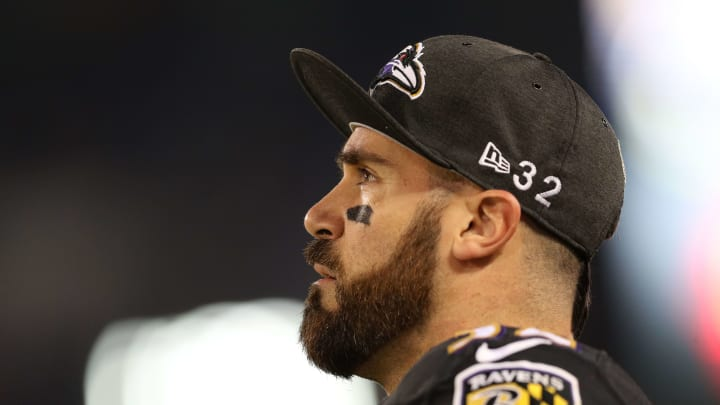 Defensive back Eric Weddle with the Baltimore Ravens