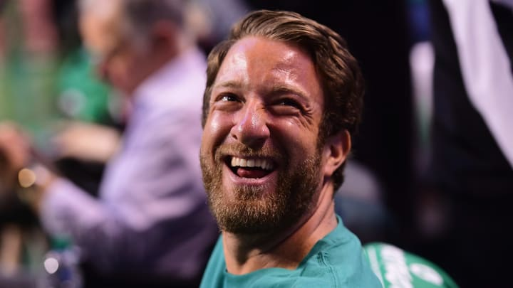 BOSTON, MA - MAY 23:  Barstool Sports founder David Portnoy attends Game Five of the 2018 NBA Eastern Conference Finals between the Cleveland Cavaliers and the Boston Celtics at TD Garden on May 23, 2018 in Boston, Massachusetts. NOTE TO USER: User expressly acknowledges and agrees that, by downloading and or using this photograph, User is consenting to the terms and conditions of the Getty Images License Agreement.  (Photo by Adam Glanzman/Getty Images)