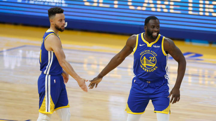 Draymond Green and Steph Curry