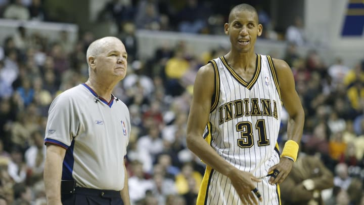 Indiana Pacers guard Reggie Miller