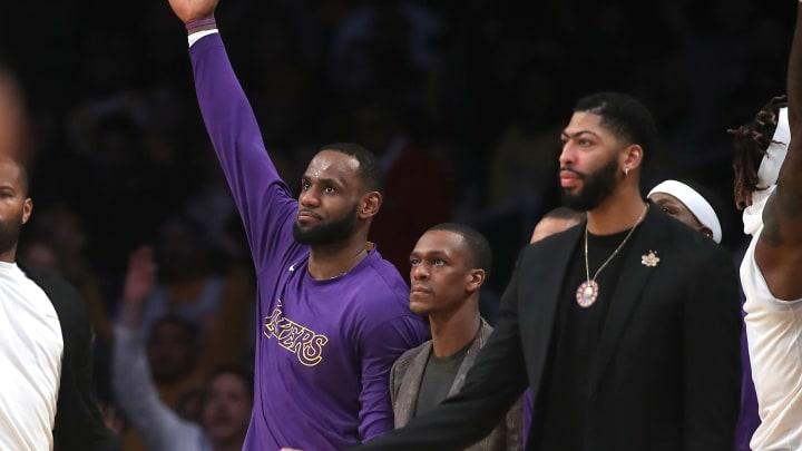 LeBron James, Rajon Rondo and Anthony Davis
