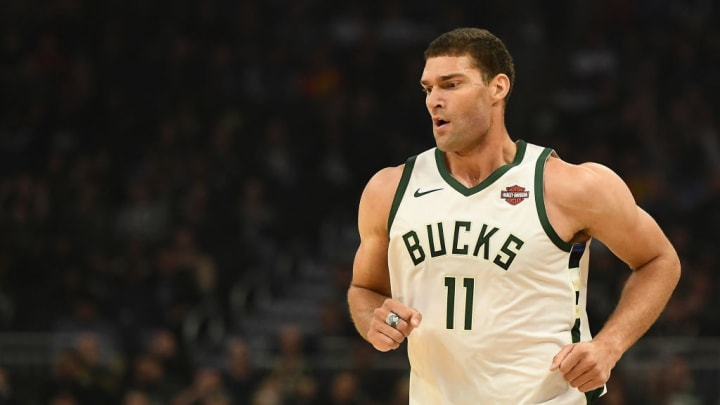 MILWAUKEE, WISCONSIN - OCTOBER 28:  Brook Lopez #11 of the Milwaukee Bucks runs backcourt during a game against the Cleveland Cavaliers at Fiserv Forum on October 28, 2019 in Milwaukee, Wisconsin. NOTE TO USER: User expressly acknowledges and agrees that, by downloading and or using this photograph, User is consenting to the terms and conditions of the Getty Images License Agreement. (Photo by Stacy Revere/Getty Images)