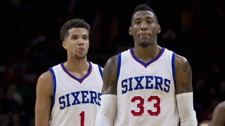 Michael Carter-Williams (L) and Robert Covington (R) during their time with the Sixers