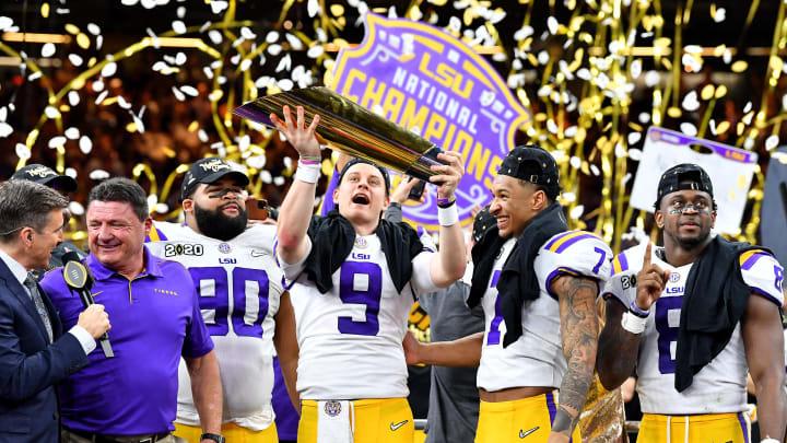 Joe Burrow and LSU celebrate National Championship