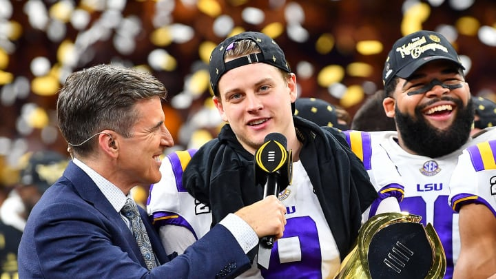 LSU QB Joe Burrow will report to the Bengals if they take him first overall in the NFL Draft.