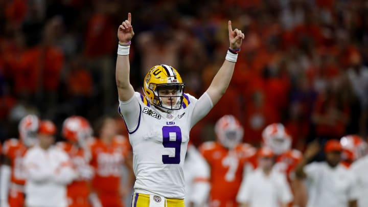 LSU quarterback and 2019 Heisman Trophy winner Joe Burrow in the national championship game