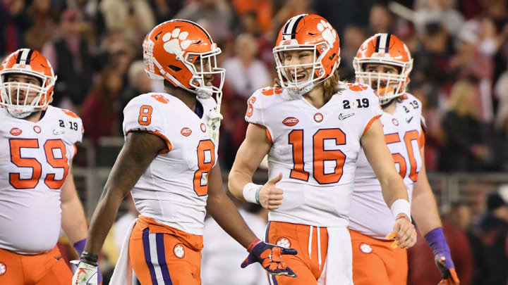 Justyn Ross and Trevor Lawrence