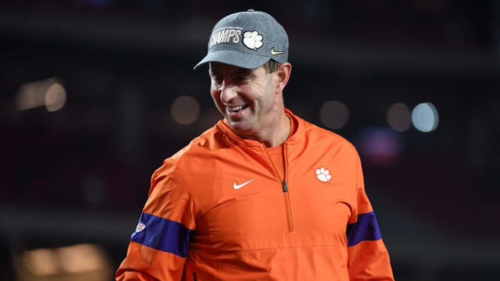 Dabo Swinney at the College Football Playoff Semifinal at the PlayStation Fiesta Bowl - Clemson v Ohio State