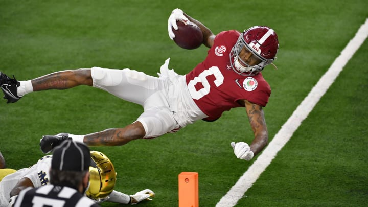 DeVonta Smith, College Football Playoff Semifinal at the Rose Bowl Game presented by Capital One - Alabama v Notre