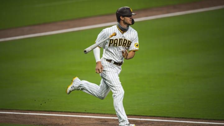 Wil Myers bat flip, Colorado Rockies v San Diego Padres