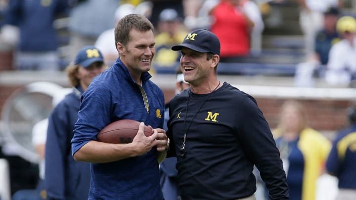 Jim Harbaugh, Tom Brady
