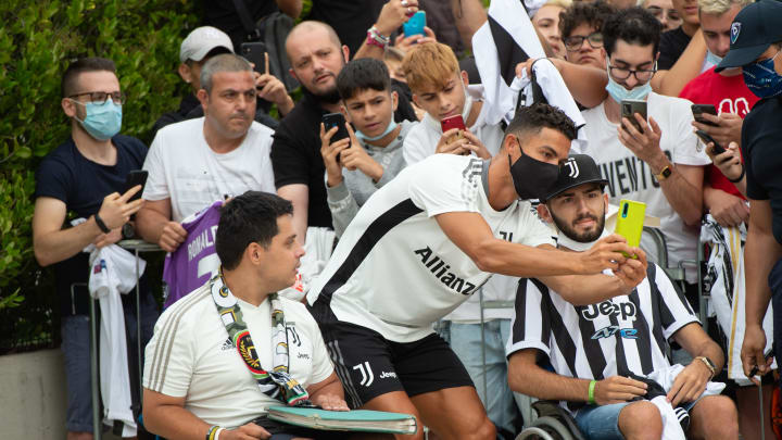Cristiano Ronaldo arrives at J Medical in Turin for medical...