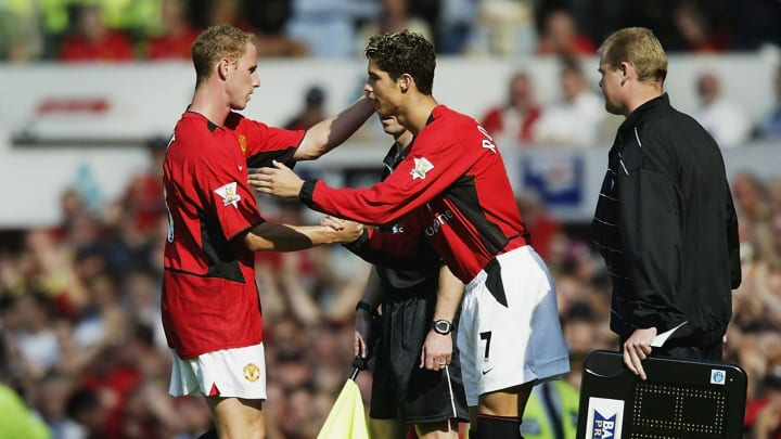 Cristiano Ronaldo of Man Utd Makes His Debut
