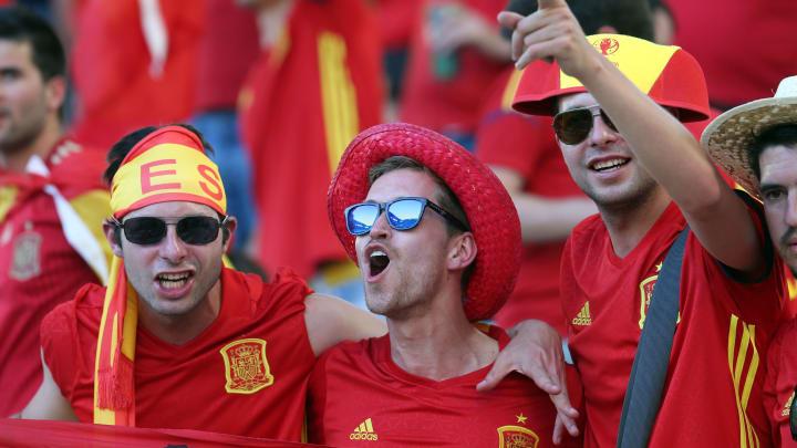 """Die spanischen Fans hoffen morgen gegen Kroatien auf eine """"Revanche"""" für 2016"""