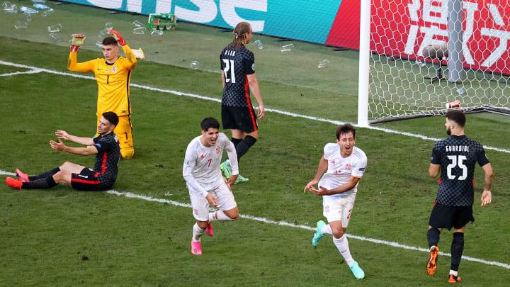 Espanha venceu a Croácia por 5 a 3