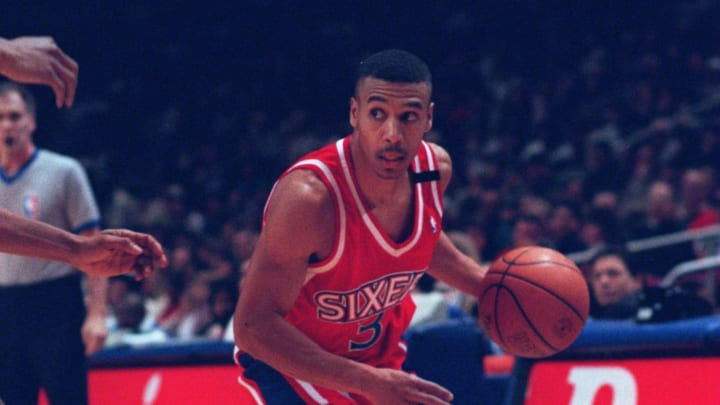 Dana Barros during his All-Star season with the Sixers