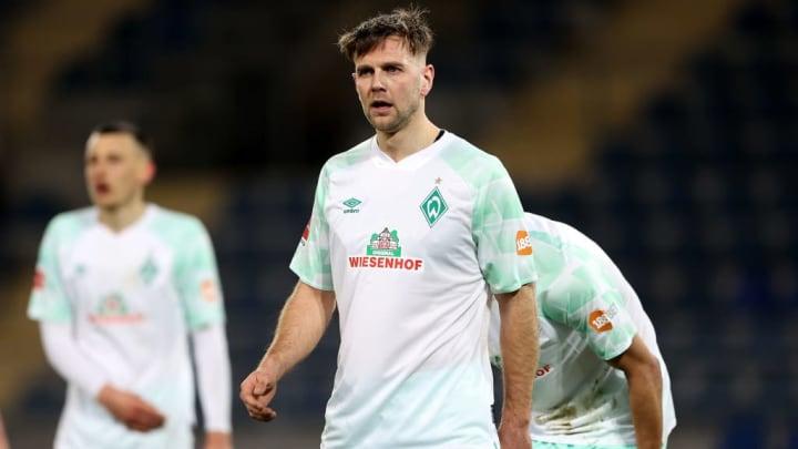 Werder-Angreifer Niclas Füllkrug fällt gegen Regensburg aus