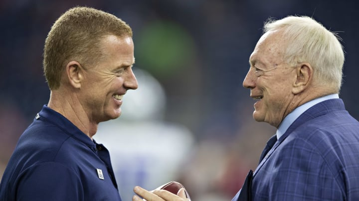 Jerry Jones and Jason Garrett during happier times for the Dallas Cowboys.