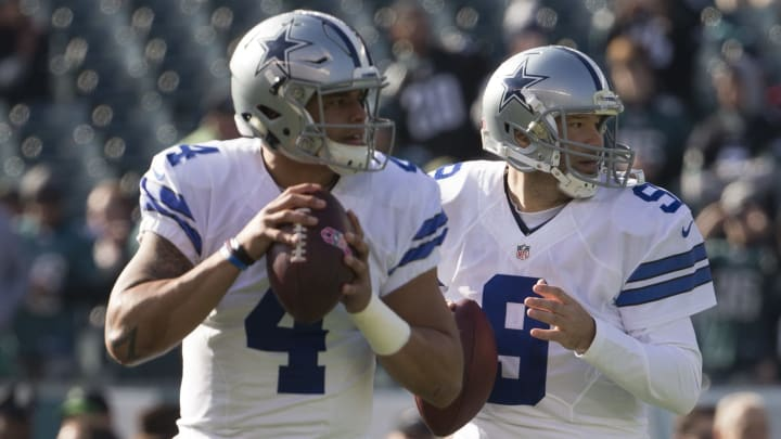 Dak Prescott and Tony Romo.