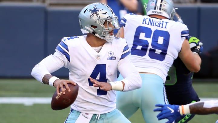 Cowboys Super Bowl LVI odds jump after signing Dak Prescott to contract extension.