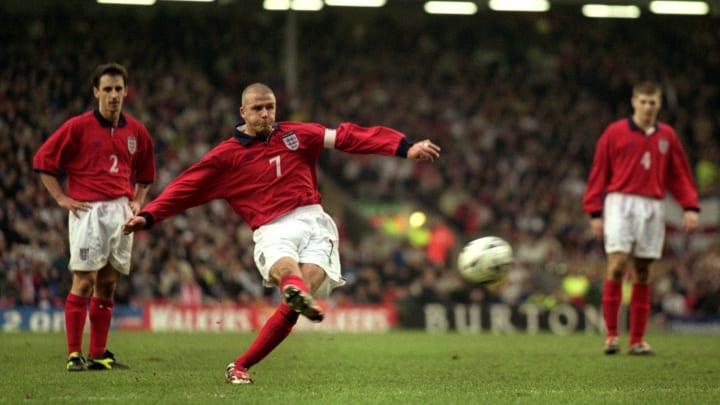 David Beckham was good at free kicks
