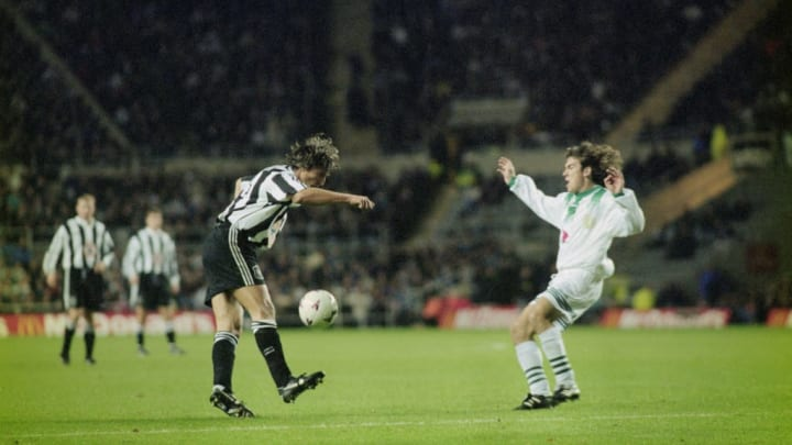 Ginola produced a moment of magic against Ferencvaros