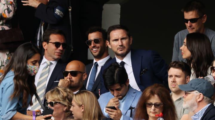 Frank Lampard, Christine Lampard, Daniel Ricciardo