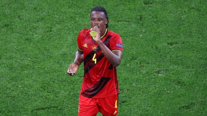 Dedryck Boyata (4) of Belgium seen during the European...