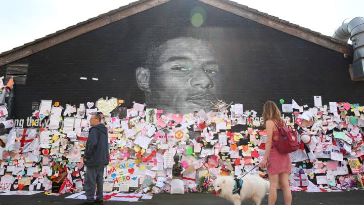 Marcus Rashford's mural was defaced recently