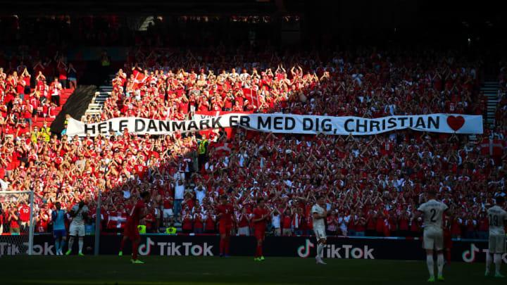 Dinamarca Bélgica Euro Eurocopa Homenagem Eriksen