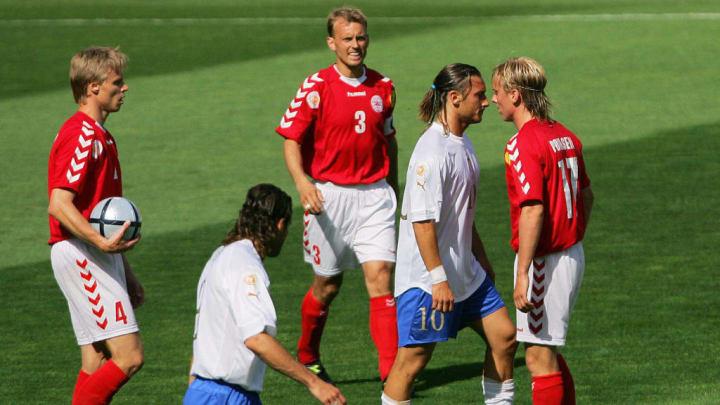 Denmark's midfielder Christian Poulsen (